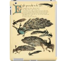 The Buckle My Shoe Picture Book by Walter Crane 1910 52 - Eight Peacocks in the Air iPad Case/Skin
