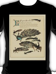 The Buckle My Shoe Picture Book by Walter Crane 1910 52 - Eight Peacocks in the Air T-Shirt