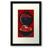 Super Steak Boy Framed Print