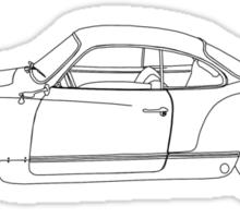 Wireframe Ghia (Black) Sticker