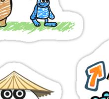 3 Pandas and Shape Shifter stickers Sticker