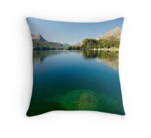 Lake Sils - Lej da Segl Throw Pillow