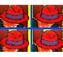 RED HATS Photographic Print