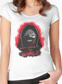 This world is wrong! Women's Fitted Scoop T-Shirt