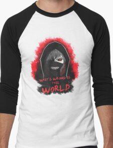 This world is wrong! Men's Baseball ¾ T-Shirt
