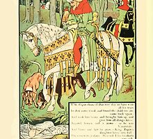 Cinderella Picture Book containing Cinderella, Puss in Boots, and Valentine and Orson Illustrated by Walter Crane 1911 46 - Peppin and the Twin by wetdryvac