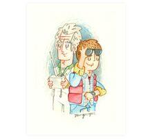 Doc & Marty Art Print
