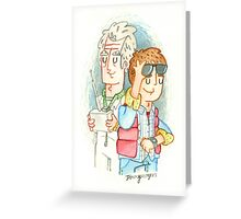 Doc & Marty Greeting Card