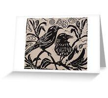 wattle birds Greeting Card