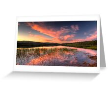 Lysterfield Lake Sunset Greeting Card