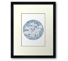 White and blue tigers Framed Print