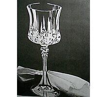 Wineglass & Napkin Photographic Print