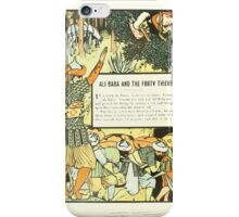 The Forty Thieves by Walter Crane 1898 6 - Ali Baba and the Forty Thieves iPhone Case/Skin