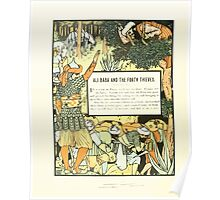 The Forty Thieves by Walter Crane 1898 6 - Ali Baba and the Forty Thieves Poster