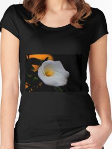 White Is The Color Of Peace II Women's Fitted Scoop T-Shirt