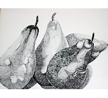 Four Pears or Two Pairs Photographic Print