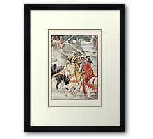 King Arthur's Knights - The Tale Retold for Boys and Girls by Sir Thomas Malory, Illustrated by Walter Crane 109 - Beaumains Wins the Fight at the Ford Framed Print