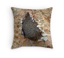 Bees swarming Throw Pillow