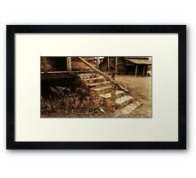 Steps into the Past Framed Print