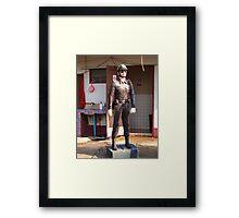 cop on a pedestal Framed Print