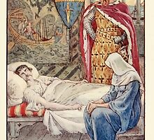 King Arthur's Knights - The Tale Retold for Boys and Girls by Sir Thomas Malory, Illustrated by Walter Crane 135 - The Witch Gives advice as to Sir Tristram's Wound by wetdryvac