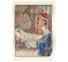 King Arthur's Knights - The Tale Retold for Boys and Girls by Sir Thomas Malory, Illustrated by Walter Crane 135 - The Witch Gives advice as to Sir Tristram's Wound Poster