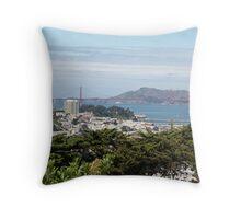 San Francisco Bay View Throw Pillow