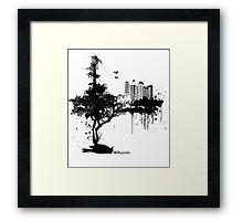 ECO-psychle black Framed Print