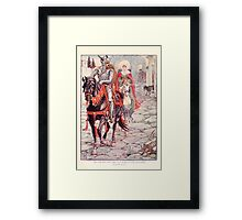 King Arthur's Knights - The Tale Retold for Boys and Girls by Sir Thomas Malory, Illustrated by Walter Crane 179 - Ser Geraint and the Lady Enid in the Deserted Roman Town Framed Print
