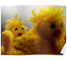 Easter chikens Poster