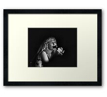 Acting the story of the song Framed Print