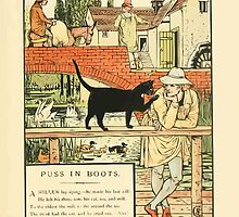 Cinderella Picture Book containing Cinderella, Puss in Boots, and Valentine and Orson Illustrated by Walter Crane 1911 15 - The Cat and the Will by wetdryvac