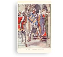 King Arthur's Knights - The Tale Retold for Boys and Girls by Sir Thomas Malory, Illustrated by Walter Crane 345 - The Fight in the Queen's Anti Chamber Canvas Print