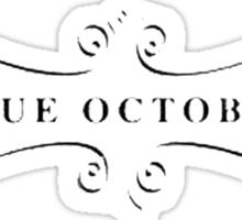 Blue October Gothic Swirl Sticker
