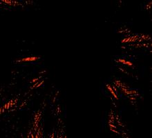 Palm Trees Silhouette - Orange Sunset Sticker