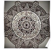 Aztec Wheel Poster