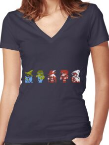 Final Fantasy - Team up Women's Fitted V-Neck T-Shirt