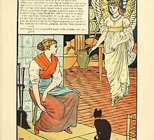 Cinderella Picture Book containing Cinderella, Puss in Boots, and Valentine and Orson Illustrated by Walter Crane 1911 11 - The Godmother by wetdryvac