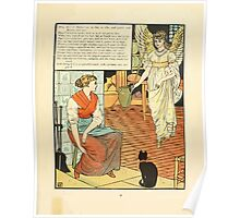 Cinderella Picture Book containing Cinderella, Puss in Boots, and Valentine and Orson Illustrated by Walter Crane 1911 11 - The Godmother Poster