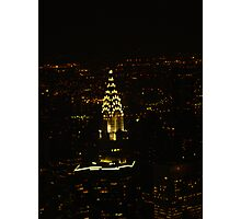 Chrysler Building At Night, New York City Photographic Print