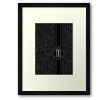 1920s Jazz Deco Swing Monogram black & silver letter M Framed Print