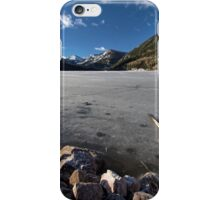 Frozen Smith and MoreHouse reservoir in Utah with log  iPhone Case/Skin