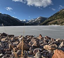 Frozen Smith and MoreHouse reservoir in Utah by Alan Mitchell