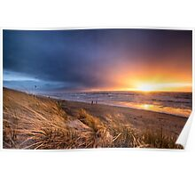 Stormy sunset Poster