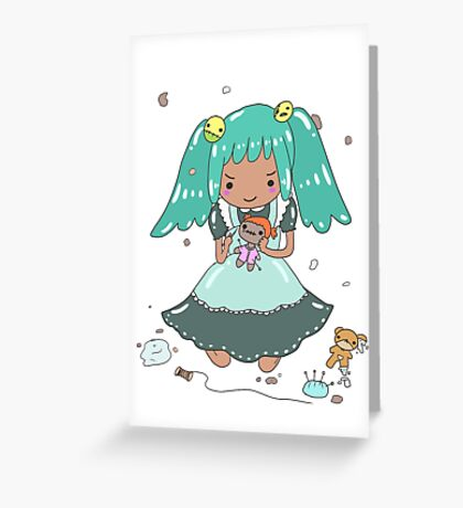 Misschievous MISFITS XOX 7DS Greeting Card