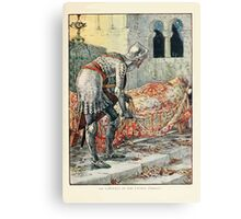 King Arthur's Knights - The Tale Retold for Boys and Girls by Sir Thomas Malory, Illustrated by Walter Crane 91 - Sir Lancelot in the Chapel Perilous Canvas Print