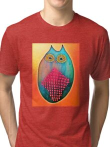 Psychedelic Owl  Tri-blend T-Shirt