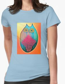 Psychedelic Owl  Womens Fitted T-Shirt