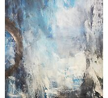 Blue Mist,Blue Abstract Painting print,White Blue Giclee Print,Abstract Painting,blue white Giclee Photographic Print