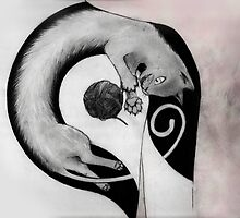 Long Kitty Tatto Idea by theyellowfury
